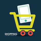 Shopping on line Stock Photo