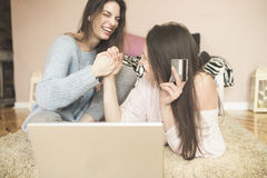 Shopping on-line Stock Images
