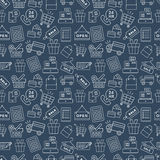 Shopping line icon pattern set Royalty Free Stock Photo