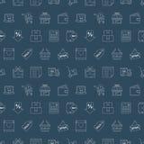 Shopping line icon pattern set Stock Image