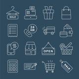 Shopping line icon set Stock Photography