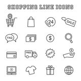 Shopping line icons Stock Photography