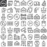 Shopping line icons set Stock Photo