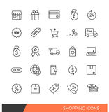 Shopping Linear Line icons Royalty Free Stock Photography