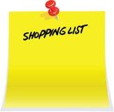 Shopping list Royalty Free Stock Photos