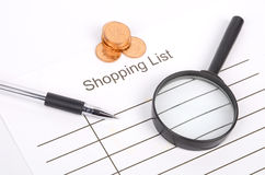 Shopping list Royalty Free Stock Photos
