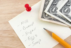 Shopping list Royalty Free Stock Photo