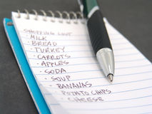 Shopping list Stock Image