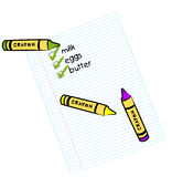 Shopping list Stock Images