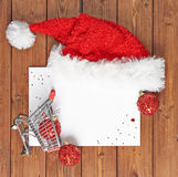 Shopping list for Christmas Stock Images