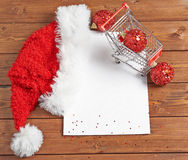 Shopping list for Christmas Stock Photo