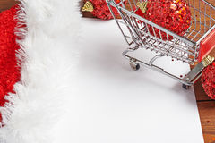 Shopping list for Christmas Royalty Free Stock Photos