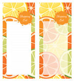Shopping List Citrus Royalty Free Stock Photography