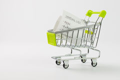 Shopping list Royalty Free Stock Photography
