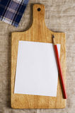 Shopping list with copy space Stock Photography