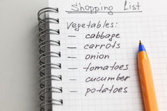 Shopping List Royalty Free Stock Image