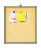 Shopping list and money Royalty Free Stock Photo