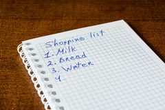 The shopping list Stock Photo