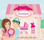 Shopping for little girl Stock Photography