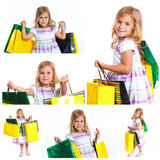 Shopping little girl Royalty Free Stock Images