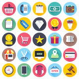 Shopping and Local Business Flat Icon Set Stock Image