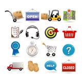 Shopping and logistic Royalty Free Stock Photos