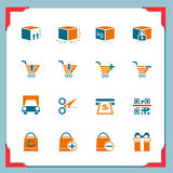 Shopping and logistic icons | In a frame series Royalty Free Stock Images