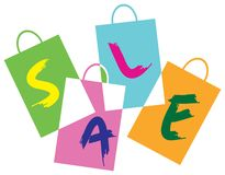 Shopping logo Stock Images