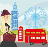 Shopping in London Royalty Free Stock Photo
