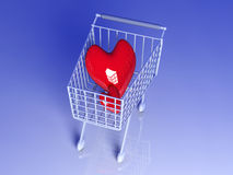 Shopping for Love Royalty Free Stock Image