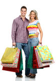 Shopping love couple Royalty Free Stock Photos