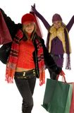 Shopping madness stock image