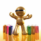 Shopping madness icon. 3d illustration Stock Photos