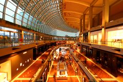 Shopping mail in Singapore . MBS Royalty Free Stock Images