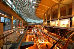 Shopping mail in Singapore . MBS. The internal Shopping mall in the Marina Bay Sands Integrated Resort , Singapore Royalty Free Stock Images