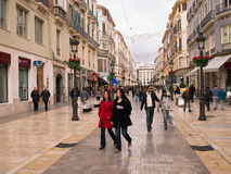Shopping in Malaga, Spain Royalty Free Stock Images