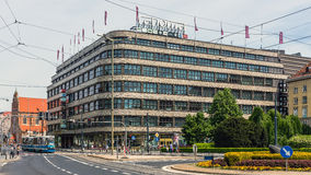 "Shopping mall ""Renoma"". Built in 1930, designed by German architect  Hermann Dernburg. Building is commonly considered a flagship work of European Modernism Royalty Free Stock Images"