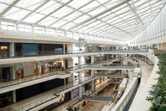 Shopping mall. A modern shopping mall of Beijing Royalty Free Stock Image