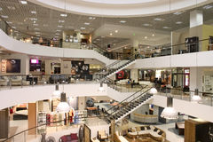 Shopping mall. Very huge shopping mall centre Royalty Free Stock Image