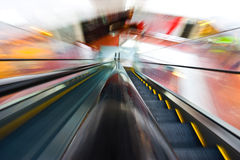 Shopping mall. In China. (motion blur Royalty Free Stock Photos
