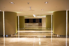 Shopping mall. Empty shopping mall interior and marble floor Royalty Free Stock Photography