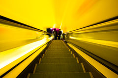 Shopping mall. In China. (motion blur Royalty Free Stock Photo