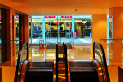 Shopping mall. Interior of a shopping mall in hong kong Stock Images