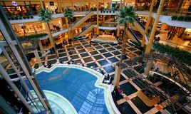 Shopping Mall. The Somerset Collection shopping mall of Troy, Michigan, with its 180 stores and annual sales of approximately $ 600 million, is not only one of Stock Photography