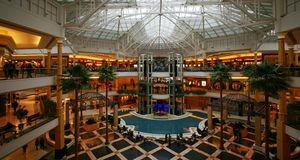 Shopping Mall. The Somerset Collection shopping mall of Troy, Michigan, with its 180 stores and annual sales of approximately $ 600 million, is not only one of Royalty Free Stock Image