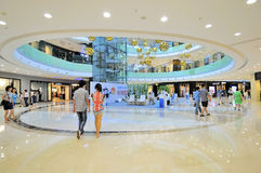 Shopping mall. The shopping mall of wanda wuxi city china Stock Photo
