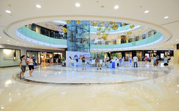 Shopping mall. Rotunda of the shopping mall,this photo was taken at shopping mall of wanda wuxi city china, on August 27, 2011 Royalty Free Stock Photos