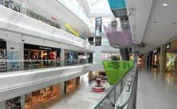 Shopping mall. Interior of modern multilevel shopping mall,garden city,shekou,shenzhen,china Stock Image