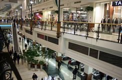 Shopping mall. Arkadia shopping center (mall) in Warsaw, Poland Stock Photo