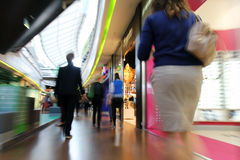 Shopping in a mall. Motion blur Stock Image